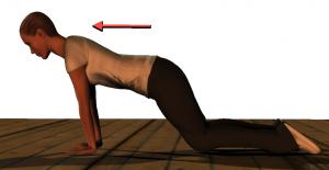 図2.体を前に移動