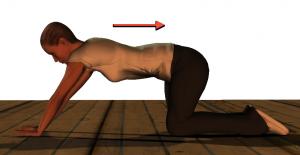 図3.体を後ろに移動。