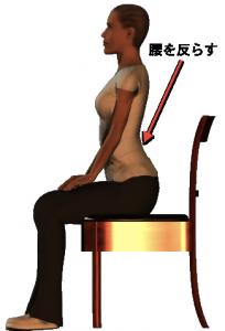 腰反らし体操